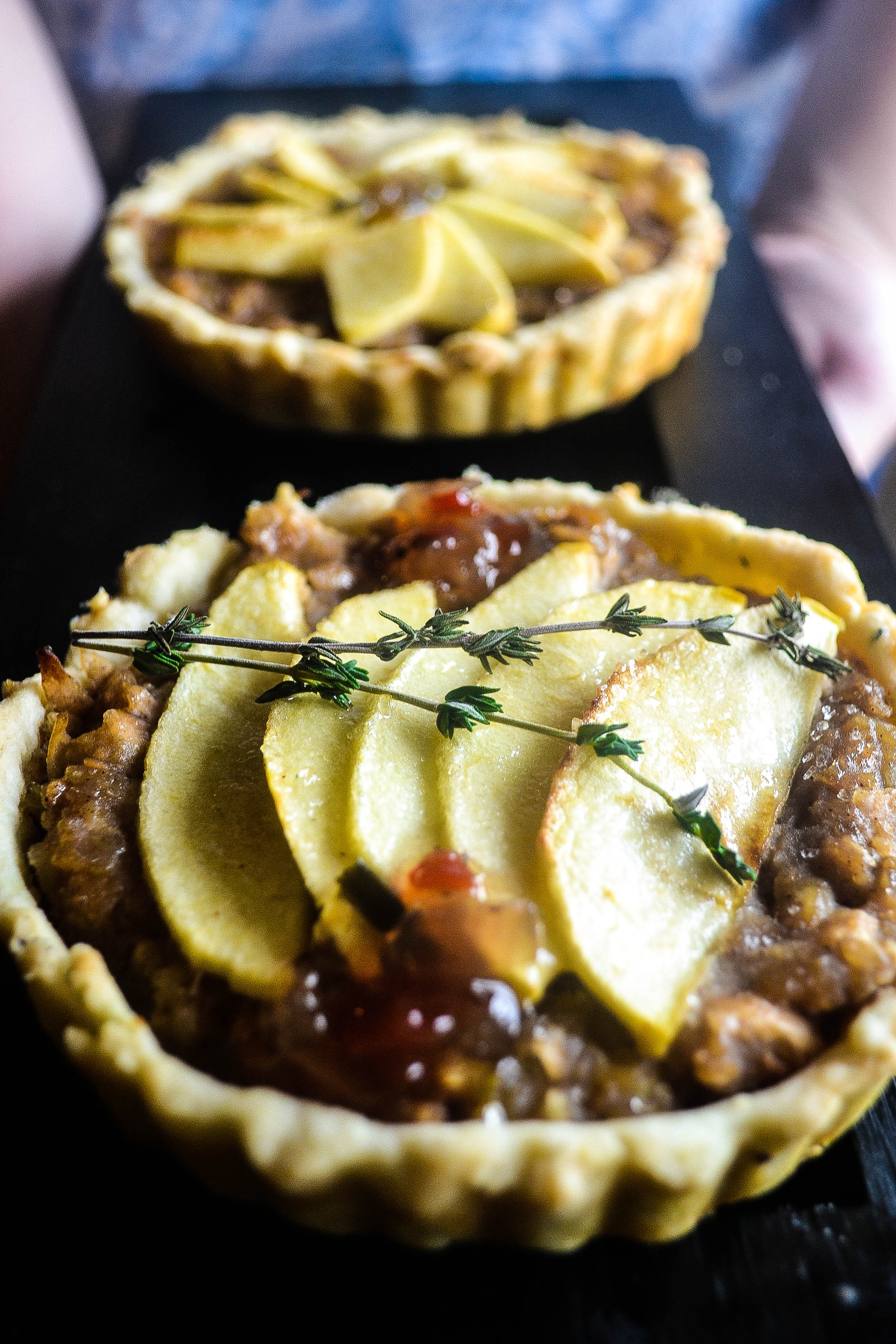 Not So Sweet Bean & Apple Tart
