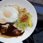Loco Moco: Fried Rice, Eggs, Chicken, Demi Glace