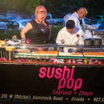 Chef Chau at Sushi Pop's Station