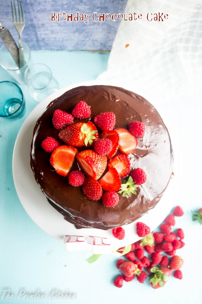 Chocolate Cake with Bittersweet Chocolate Frosting