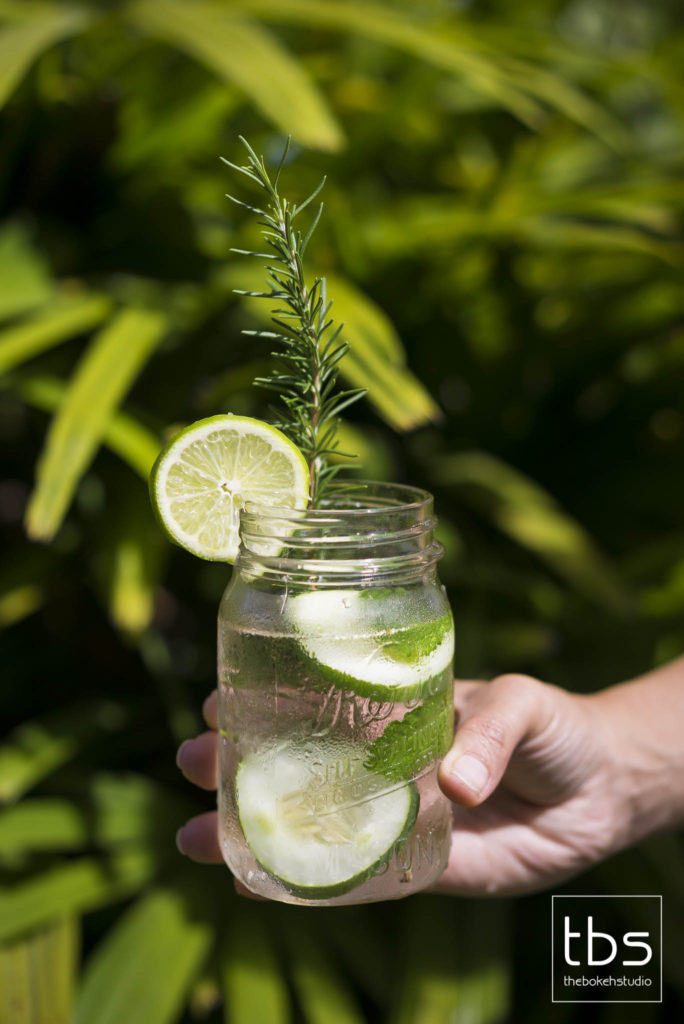 Cucumber and Basil Water