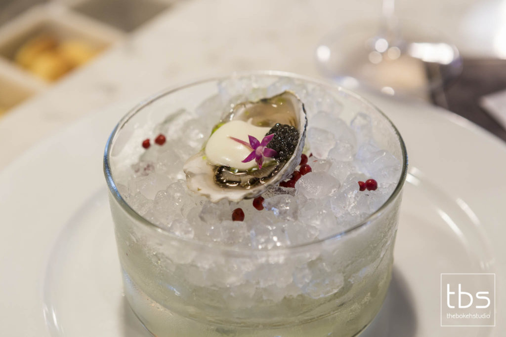 Oyster with Paddlefish Caviar
