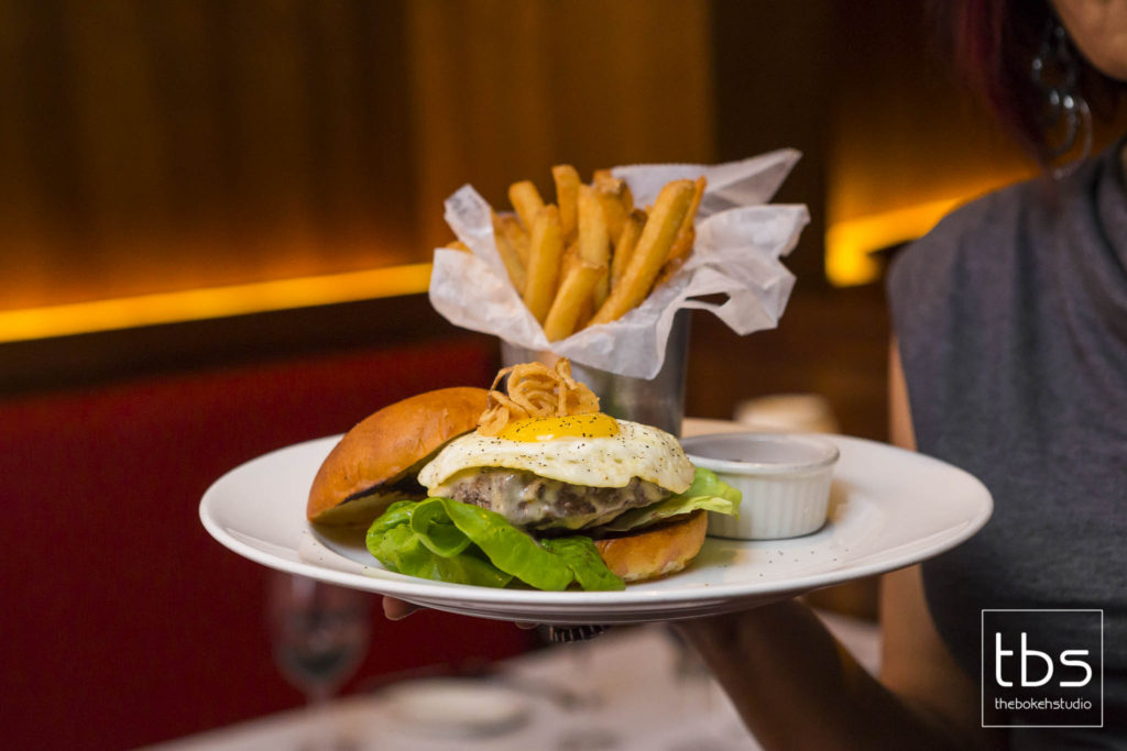 Wagyu Cheeseburger with Fried Egg