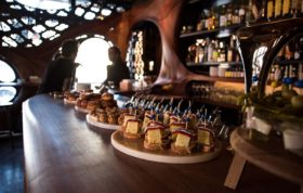 Bar-Raval-Toronto-steals-the-show-with-its-CNCd-mahogany-interior
